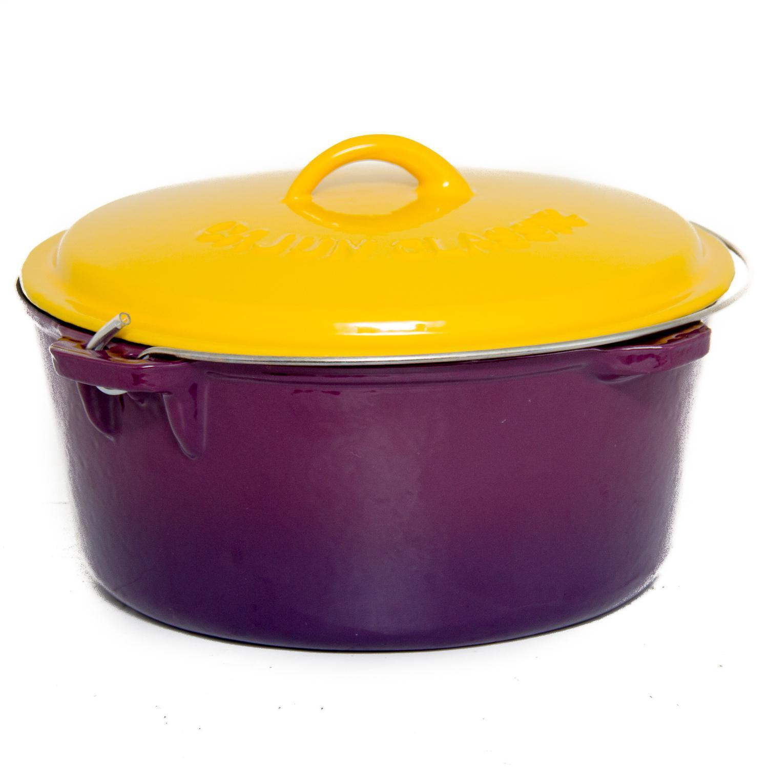 Cheap cajun cookware dutch ovens 6 quart seasoned cast iron dutch oven - Cajun Cookware 16 Quart Enamel Cast Iron Purple