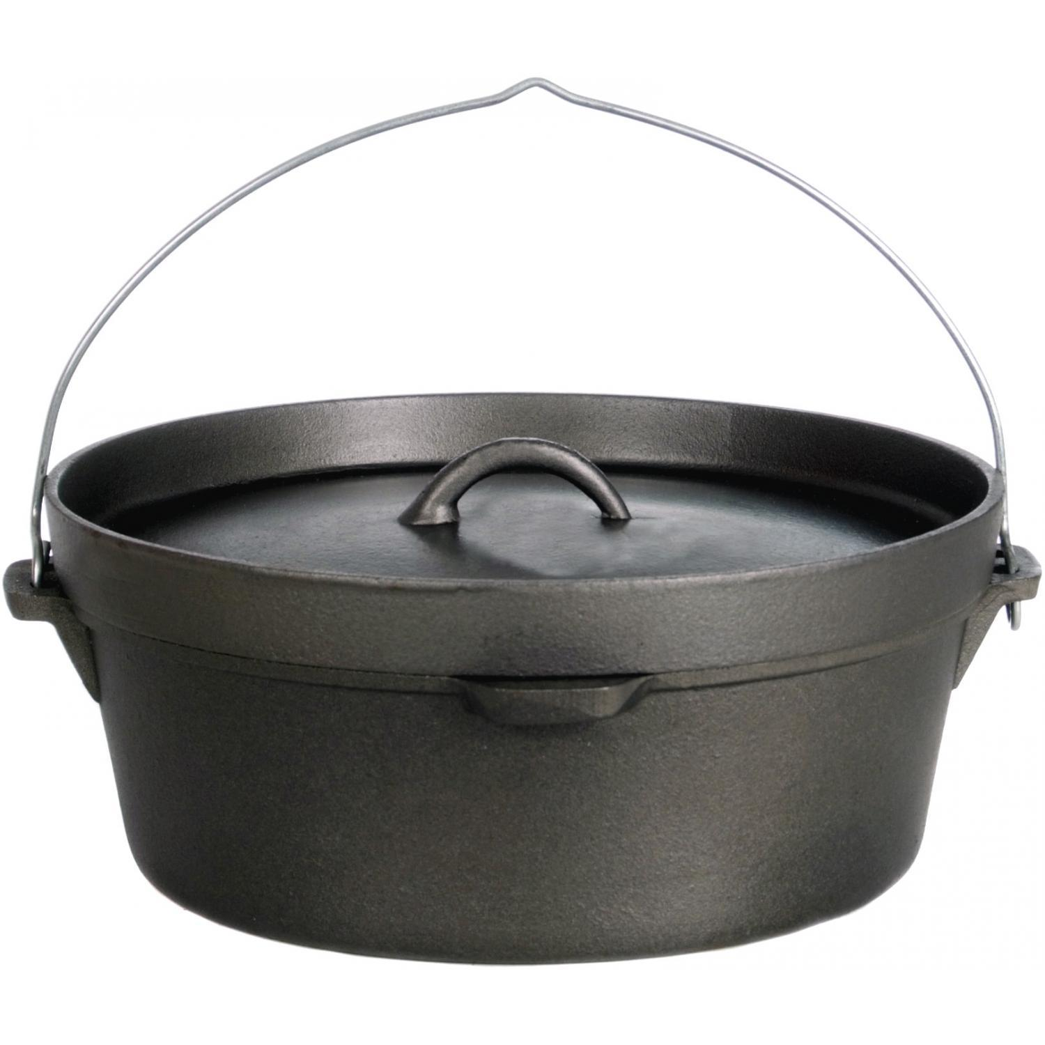 Cheap cajun cookware dutch ovens 6 quart seasoned cast iron dutch oven - Cajun Cookware Pots Without Legs 6 Quart Seasoned Cast Iron Camp Pot