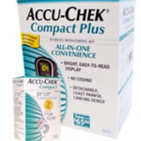 Accu-Chek Compact Plus Diabetes Monitoring Kit Combo (meter,strips)