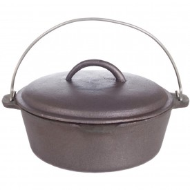 Cajun Cookware Dutch Ovens 2 Quart Cast Iron Dutch Oven
