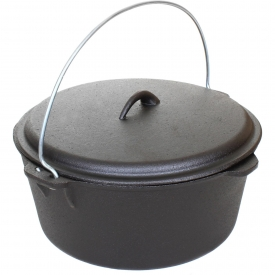 Cajun Cookware Dutch Ovens 9-Quart Seasoned Cast Iron Dutch Oven – GL10488S