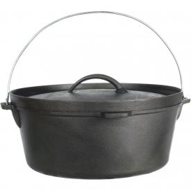 Cajun Cookware Pots 12-Quart Seasoned Cast Iron Camp Pot – GL10476S