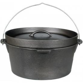 Cajun Cookware Pots 9 Quart Seasoned Cast Iron Camp Pot – GL10475S