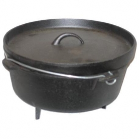 Cajun Cookware Pots With Legs 6 Quart Seasoned Cast Iron Camp Pot