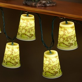 Camouflage Cups Outdoor Party Lights
