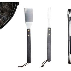 Innova Imports 3-Piece Set Essential Bbq Tools With Carrying Pouch