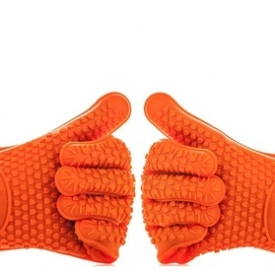 Kassa Heat Resistant Silicone Kitchen Cooking BBQ Gloves (Set of 2)