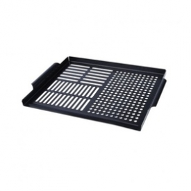 Multi-Slotted, Stainless steel Non-Stick Coated Grilling Grid black