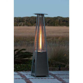 Fire Sense 40000 BTU Pyramid Flame Propane Patio Heater - Stainless